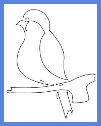 снегирь, рисование веревочкой