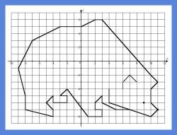 графические диктанты, координатная плоскость