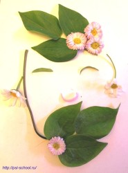 Летние поделки из цветов