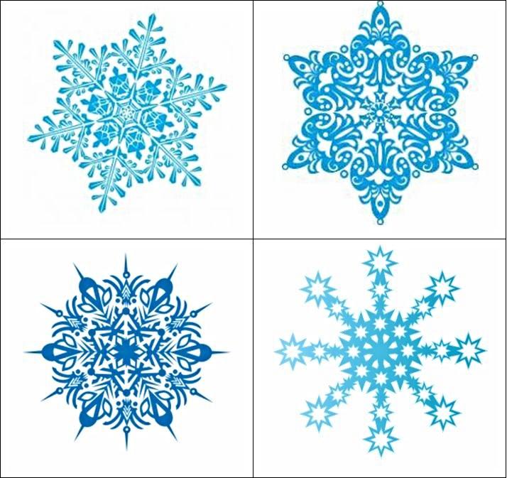 Новогоднее мемори Снежинки