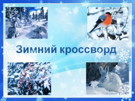 зимний кроссорд